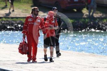 World © Octane Photographic Ltd. Formula 1 - Canadian Grand Prix - Sunday Paddock. Kimi Raikkonen - Scuderia Ferrari SF70H. Circuit Gilles Villeneuve, Montreal, Canada. Sunday 11th June 2017. Digital Ref: 1855LB1D7215