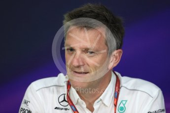 World © Octane Photographic Ltd. Formula 1 - Canadian Grand Prix - Friday FIA Team Personnel Press Conference. James Allison - Technical Director of Mercedes-AMG Petronas Motorsport. Circuit Gilles Villeneuve, Montreal, Canada. Friday 9th June 2017. Digital Ref: 1852LB1D4328