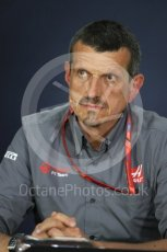 World © Octane Photographic Ltd. Formula 1 - Canadian Grand Prix - Friday FIA Team Personnel Press Conference. Guenther Steiner - Team Principal of Haas F1 Team. Circuit Gilles Villeneuve, Montreal, Canada. Friday 9th June 2017. Digital Ref: 1852LB1D4341