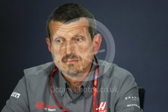 World © Octane Photographic Ltd. Formula 1 - Canadian Grand Prix - Friday FIA Team Personnel Press Conference. Guenther Steiner - Team Principal of Haas F1 Team. Circuit Gilles Villeneuve, Montreal, Canada. Friday 9th June 2017. Digital Ref: 1852LB1D4376