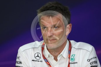 World © Octane Photographic Ltd. Formula 1 - Canadian Grand Prix - Friday FIA Team Personnel Press Conference. James Allison - Technical Director of Mercedes-AMG Petronas Motorsport. Circuit Gilles Villeneuve, Montreal, Canada. Friday 9th June 2017. Digital Ref: 1852LB1D4417