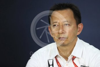 World © Octane Photographic Ltd. Formula 1 - Canadian Grand Prix - Friday FIA Team Personnel Press Conference. Yusuke Hasegawa – Chief of Honda F1 project. Circuit Gilles Villeneuve, Montreal, Canada. Friday 9th June 2017. Digital Ref: 1852LB1D4455