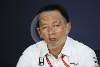 World © Octane Photographic Ltd. Formula 1 - Canadian Grand Prix - Friday FIA Team Personnel Press Conference. Yusuke Hasegawa – Chief of Honda F1 project. Circuit Gilles Villeneuve, Montreal, Canada. Friday 9th June 2017. Digital Ref: 1852LB1D4477