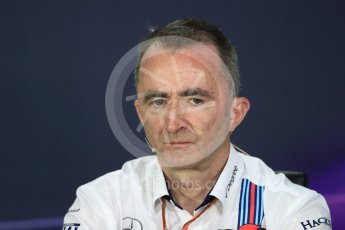 World © Octane Photographic Ltd. Formula 1 - Canadian Grand Prix - Friday FIA Team Personnel Press Conference. Paddy Lowe - Chief Technical Officer at Williams Martini Racing. Circuit Gilles Villeneuve, Montreal, Canada. Friday 9th June 2017. Digital Ref: 1852LB1D4499