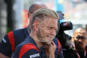 World © Octane Photographic Ltd. Formula 1 - Monaco Grand Prix Setup. Kevin Magnussen - Haas F1 Team VF-17. Monaco, Monte Carlo. Wednesday 24th May 2017. Digital Ref: