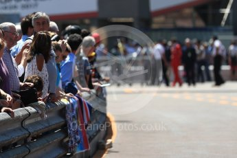 World © Octane Photographic Ltd. Formula 1 - Monaco Grand Prix Setup. Fans in the pit walkway. Monaco, Monte Carlo. Wednesday 24th May 2017. Digital Ref: