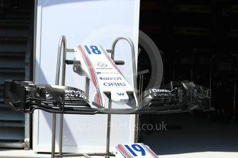World © Octane Photographic Ltd. Formula 1 - Monaco Grand Prix Setup. Felipe Massa and Lance Stroll - Williams Martini Racing FW40. Monaco, Monte Carlo. Wednesday 24th May 2017. Digital Ref: