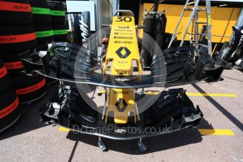 World © Octane Photographic Ltd. Formula 1 - Monaco Grand Prix Setup. Jolyon Palmer - Renault Sport F1 Team R.S.17. Monaco, Monte Carlo. Wednesday 24th May 2017. Digital Ref: