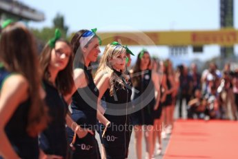 World © Octane Photographic Ltd. Formula 1 - Spanish Grand Prix Driver's Parade. Heineken 0.0 girls. Circuit de Barcelona - Catalunya, Spain. Sunday 14th May 2017. Digital Ref: 1824LB1D3482