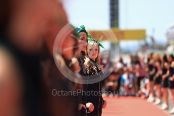 World © Octane Photographic Ltd. Formula 1 - Spanish Grand Prix Driver's Parade. Heineken 0.0 girls. Circuit de Barcelona - Catalunya, Spain. Sunday 14th May 2017. Digital Ref: 1824LB1D3496