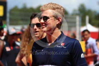 World © Octane Photographic Ltd. Formula 1 - Spanish Grand Prix Driver's Parade. Marcus Ericsson – Sauber F1 Team C36. Circuit de Barcelona - Catalunya, Spain. Sunday 14th May 2017. Digital Ref: 1824LB1D3517