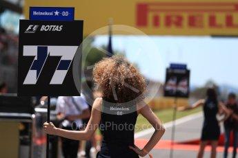 World © Octane Photographic Ltd. Formula 1 - Spanish Grand Prix Grid. Valtteri Bottas - Mercedes AMG Petronas F1 W08 EQ Energy+. Circuit de Barcelona - Catalunya, Spain. Sunday 14th May 2017. Digital Ref:1824LB1D3701