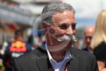World © Octane Photographic Ltd. Formula 1 - Spanish Grand Prix Grid. Chase Carey - Liberty Media. Circuit de Barcelona - Catalunya, Spain. Sunday 14th May 2017. Digital Ref:1824LB1D3775