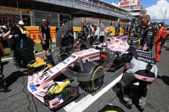 World © Octane Photographic Ltd. Formula 1 - Spanish Grand Prix Grid. Sergio Perez - Sahara Force India VJM10. Circuit de Barcelona - Catalunya, Spain. Sunday 14th May 2017. Digital Ref:1824LB2D8735