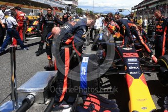 World © Octane Photographic Ltd. Formula 1 - Spanish Grand Prix Grid. Max Verstappen - Red Bull Racing RB13. Circuit de Barcelona - Catalunya, Spain. Sunday 14th May 2017. Digital Ref:1824LB2D8794