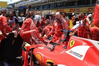 World © Octane Photographic Ltd. Formula 1 - Spanish Grand Prix Grid. Sebastian Vettel - Scuderia Ferrari SF70H. Circuit de Barcelona - Catalunya, Spain. Sunday 14th May 2017. Digital Ref:1824LB2D8806