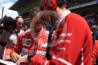 World © Octane Photographic Ltd. Formula 1 - Spanish Grand Prix Grid. Sebastian Vettel - Scuderia Ferrari SF70H. Circuit de Barcelona - Catalunya, Spain. Sunday 14th May 2017. Digital Ref:1824LB2D8822