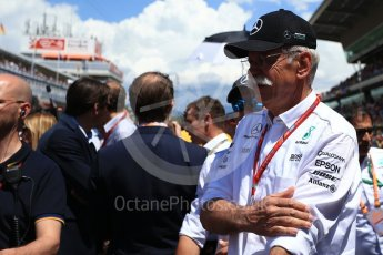 World © Octane Photographic Ltd. Formula 1 - Spanish Grand Prix Grid. Dieter Zetsche - Chairman of the Board of Directors of Daimler AG and Head of Mercedes-Benz Cars. Circuit de Barcelona - Catalunya, Spain. Sunday 14th May 2017. Digital Ref:1824LB2D8830