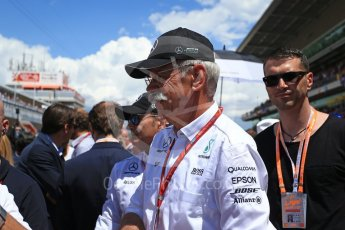 World © Octane Photographic Ltd. Formula 1 - Spanish Grand Prix Grid. Dieter Zetsche - Chairman of the Board of Directors of Daimler AG and Head of Mercedes-Benz Cars. Circuit de Barcelona - Catalunya, Spain. Sunday 14th May 2017. Digital Ref:1824LB2D8834