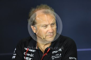 World © Octane Photographic Ltd. Formula 1 - Spanish Grand Prix – FIA Team Press Conference – Part 1. Robert Fernley - Deputy Team Principal of Sahara Force India. Circuit de Barcelona - Catalunya. Thursday 11th May 2017. Digital Ref: 1815LB1D0025