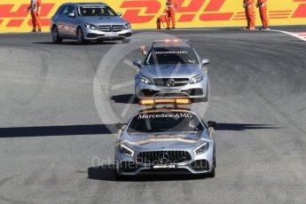 World © Octane Photographic Ltd. Formula 1 - Spanish Grand Prix Practice 1. Track inspection in Mercedes AMG cars. Circuit de Barcelona - Catalunya, Spain. Friday 12th May 2017. Digital Ref: 1810CB1L7615