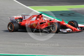 World © Octane Photographic Ltd. Formula 1 - Spanish Grand Prix Practice 1. Sebastian Vettel - Scuderia Ferrari SF70H. Circuit de Barcelona - Catalunya, Spain. Friday 12th May 2017. Digital Ref: 1810CB1L7644