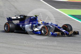 World © Octane Photographic Ltd. Formula 1 - Spanish Grand Prix Practice 1. Pascal Wehrlein – Sauber F1 Team C36. Circuit de Barcelona - Catalunya, Spain. Friday 12th May 2017. Digital Ref: 1810CB1L7815