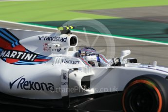 World © Octane Photographic Ltd. Formula 1 - Spanish Grand Prix Practice 1. Lance Stroll - Williams Martini Racing FW40. Circuit de Barcelona - Catalunya, Spain. Friday 12th May 2017. Digital Ref: 1810CB1L8084