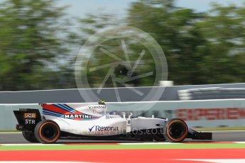 World © Octane Photographic Ltd. Formula 1 - Spanish Grand Prix - Practice 1. Lance Stroll - Williams Martini Racing FW40. Circuit de Barcelona - Catalunya. Friday 12th May 2017. Digital Ref: 1810CB1L8109