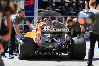 World © Octane Photographic Ltd. Formula 1 - Spanish Grand Prix Practice 1. Stoffel Vandoorne - McLaren Honda MCL32. Circuit de Barcelona - Catalunya, Spain. Friday 12th May 2017. Digital Ref: 1810CB7D4234