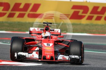 World © Octane Photographic Ltd. Formula 1 - Spanish Grand Prix - Practice 1. Sebastian Vettel - Scuderia Ferrari SF70H. Circuit de Barcelona - Catalunya. Friday 12th May 2017. Digital Ref: 1810LB1D8982