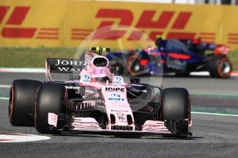 Esteban Ocon - Sahara Force India VJM10. Circuit de Barcelona - Catalunya. Friday 12th May 2017. Digital Ref: 1810LB1D9031
