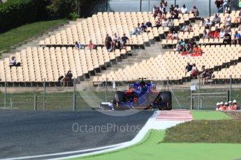 World © Octane Photographic Ltd. Formula 1 - Spanish Grand Prix Practice 1. Carlos Sainz - Scuderia Toro Rosso STR12. Circuit de Barcelona - Catalunya, Spain. Friday 12th May 2017. Digital Ref: 1810LB1D9472