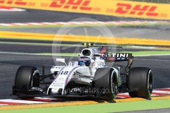 World © Octane Photographic Ltd. Formula 1 - Spanish Grand Prix Practice 1. Lance Stroll - Williams Martini Racing FW40. Circuit de Barcelona - Catalunya, Spain. Friday 12th May 2017. Digital Ref: 1810LB1D9556