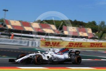 World © Octane Photographic Ltd. Formula 1 - Spanish Grand Prix Practice 1. Lance Stroll - Williams Martini Racing FW40. Circuit de Barcelona - Catalunya, Spain. Friday 12th May 2017. Digital Ref: 1810LB2D7388