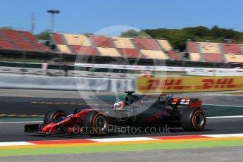 World © Octane Photographic Ltd. Formula 1 - Spanish Grand Prix Practice 1. Romain Grosjean - Haas F1 Team VF-17. Circuit de Barcelona - Catalunya, Spain. Friday 12th May 2017. Digital Ref: 1810LB2D7432