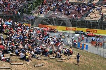 World © Octane Photographic Ltd. Formula 1 - Spanish Grand Prix Race. First lap drama, Vettel leads Hamilton ahead of Raikkonen, Verstappen and Bottas. Circuit de Barcelona - Catalunya, Spain. Sunday 14th May 2017. Digital Ref:1825LB1D3816