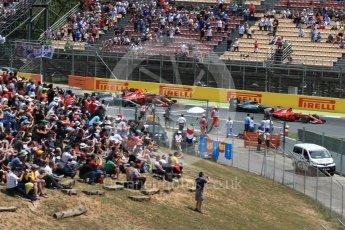 World © Octane Photographic Ltd. Formula 1 - Spanish Grand Prix Race. First lap drama, Vettel leads Hamilton ahead of Raikkonen, Verstappen and Bottas. Circuit de Barcelona - Catalunya, Spain. Sunday 14th May 2017. Digital Ref:1825LB1D3817