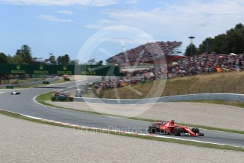 World © Octane Photographic Ltd. Formula 1 - Spanish Grand Prix Race. Sebastian Vettel - Scuderia Ferrari SF70H. Circuit de Barcelona - Catalunya, Spain. Sunday 14th May 2017. Digital Ref:1825LB1D4230