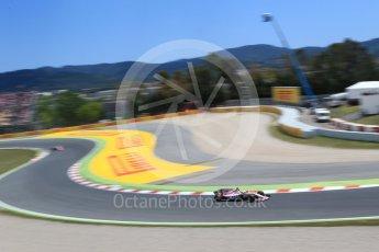 World © Octane Photographic Ltd. Formula 1 - Spanish Grand Prix Race. Sergio Perez and Esteban Ocon - Sahara Force India VJM10. Circuit de Barcelona - Catalunya, Spain. Sunday 14th May 2017. Digital Ref:1825LB2D9069