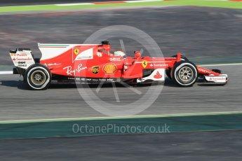 World © Octane Photographic Ltd. Formula 1 winter test 1, Scuderia Ferrari SF70H – Sebastian Vettel. Circuit de Barcelona-Catalunya. Monday 27th February 2017. Digital Ref :1780CB1D2570