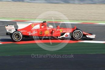 World © Octane Photographic Ltd. Formula 1 winter test 1, Scuderia Ferrari SF70H – Sebastian Vettel. Circuit de Barcelona-Catalunya. Monday 27th February 2017. Digital Ref :1780CB1D2578