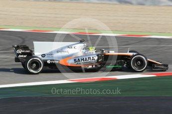 World © Octane Photographic Ltd. Sahara Force India VJM10 – Sergio Perez. Formula 1 winter test 1, Circuit de Barcelona-Catalunya. Monday 27th February 2017. Digital Ref :1780CB1D2690