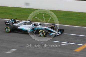 World © Octane Photographic Ltd. Formula 1 - Winter Test 1. Valtteri Bottas - Mercedes AMG Petronas F1 W08 EQ Energy+. Circuit de Barcelona-Catalunya. Monday 27th February 2017. Digital Ref :1780CB1D2736