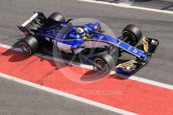World © Octane Photographic Ltd. Formula 1 - Winter Test 1. Marcus Ericsson - Sauber F1 Team C36. Circuit de Barcelona-Catalunya. Monday 27th February 2017. Digital Ref :1780CB1D2808