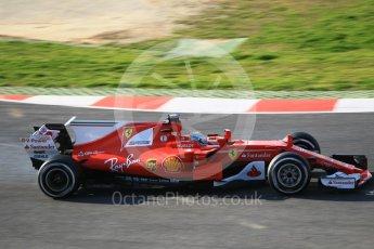 World © Octane Photographic Ltd. Formula 1 - Winter Test 1. Sebastian Vettel - Scuderia Ferrari SF70H. Circuit de Barcelona-Catalunya. Monday 27th February 2017. Digital Ref :1780CB1D3103