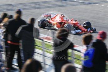 World © Octane Photographic Ltd. Formula 1 - Winter Test 1. Sebastian Vettel - Scuderia Ferrari SF70H. Circuit de Barcelona-Catalunya. Monday 27th February 2017. Digital Ref :1780CB1D3209