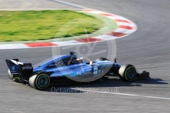World © Octane Photographic Ltd. Formula 1 - Winter Test 1. Lewis Hamilton - Mercedes AMG Petronas F1 W08 EQ Energy+. Circuit de Barcelona-Catalunya. Monday 27th February 2017. Digital Ref :1780CB1D3232