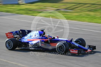 World © Octane Photographic Ltd. Formula 1 - Winter Test 1. Carlos Sainz - Scuderia Toro Rosso STR12. Circuit de Barcelona-Catalunya. Monday 27th February 2017. Digital Ref :1780CB1D3253