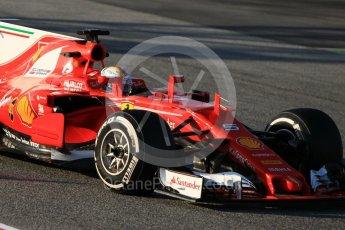 World © Octane Photographic Ltd. Formula 1 - Winter Test 1. Sebastian Vettel - Scuderia Ferrari SF70H. Circuit de Barcelona-Catalunya. Monday 27th February 2017. Digital Ref :1780CB1D3431